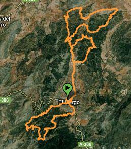 Mapa Maratón BTT del El Burgo 2011