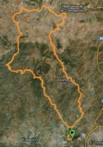 Mapa Ruta BTT colmenarejo - la joya por: santipetri - arroyo ancon - villanueva