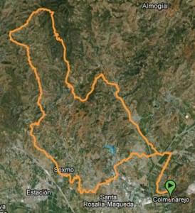 Mapa Ruta BTT los-moras-carril-de-los-castilletes-santipetri-tres-cruces-sexmo-perfil
