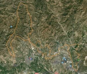Mapa Ruta BTT de la Tres Cruces 3
