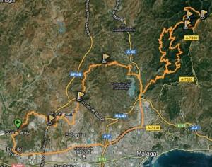 Perfil Ruta BTT montes de malaga por: ermita de los verdiales - los locos - humaina - Fuente la Reina - cochino - los locos - carretera