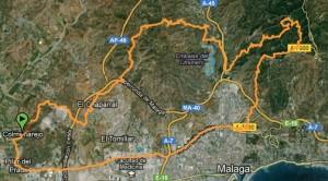 Mapa Ruta BTT Montes de Málaga