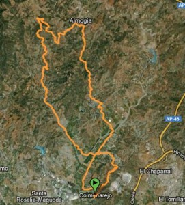Mapa Ruta BTT arroyo de los olivos - almogia - pastrana