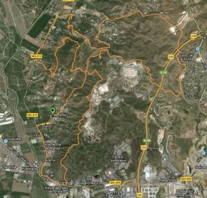 Mapa ruta btt trialeras colmenarejo puerto de la torre