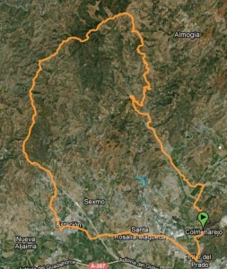 Mapa ruta btt por a santipetri por pastrana - Santi petri - Ermita tres cruces - est. de cartama - maqueda