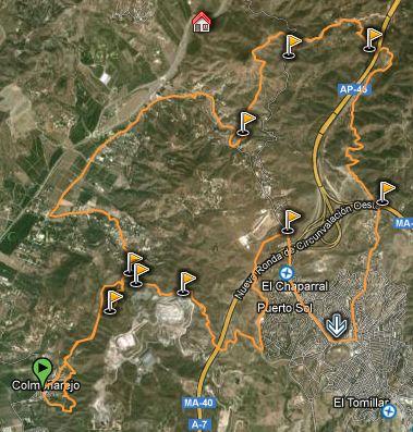 ruta zona puerto de la torre veredas sierra colmenarejo