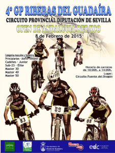 cartel Rally BTT GP. RIBERAS DEL GUADAIRA