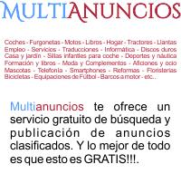 Multianuncios te ofrece un servicio gratuito de publicación y búsqueda de anuncios clasificados.